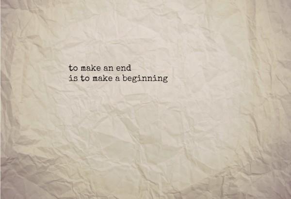 endings are beginnings