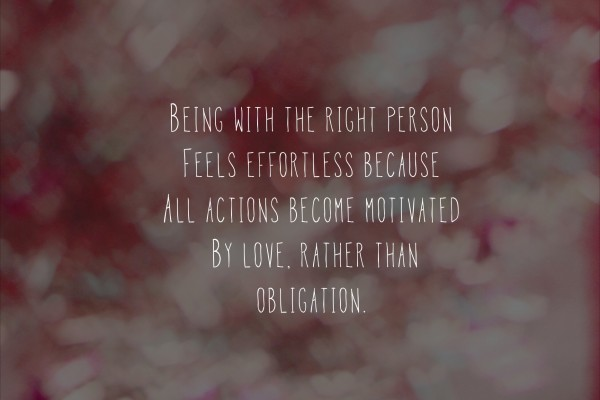 actions motivated by love