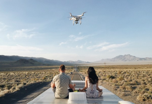 Burning Man Line Up Drone RV