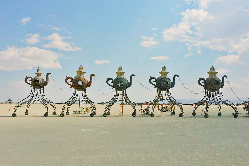 teapots burning man art